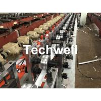 China PLC Frequency Control PU Foam Roller Shutter Slat Machine With Guiding Column Forming Frame Structure wholesale