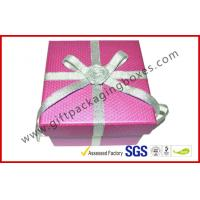 China Handmade Texture Paper Gift Packaging Boxes , Custom Rigid Board Cup Gift Box with Ribbon wholesale