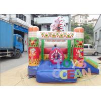 China Customizable 0.55mm PVC Jumping Bouncy Castle Indians Cartoon House For Kids wholesale