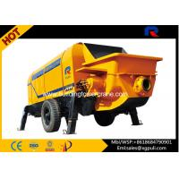 China 6 Tons Trailer Mounted Concrete Pump 110KW Power for building Construction wholesale