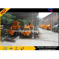 China Air cooling Mobile Diesel Concrete Pump 1400mm Filling height wholesale