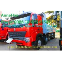 China A7 Heavy Duty Dump Truck 8x4 380hp EUROIII Front lift HYVA 169 Cylinder wholesale