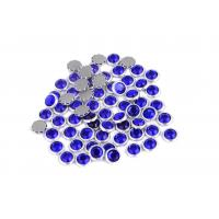 China 12 / 14 Facets Rimmed Rhinestones Lead Free Round Shape For Nail Art / Shoes wholesale