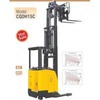 China Electric Seated Reach Truck Forklift 1.5 Ton Load Capacity With Double Scissor wholesale