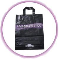 China Customized PP Ribbon Soft Loop Handle Bag With Square Bottom For Shopping wholesale