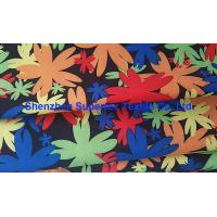 China Water Repellent Garment Poly Twill Fabric  Drill Microfiber Peach Skin Floral Printing wholesale