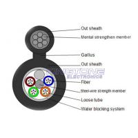 China GYXTC8S 13.5 mm 4 Core Fiber Optic Cable with IEC 60794-1 Standard , Black wholesale