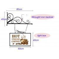 China Hanging Sign Bracket Vacuum Forming Light Box Vintage Style With Double Sides Display wholesale