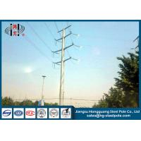 Wholesale 50FT 2 Sections 69KV Electrical Power Transmission Pole With Galvanization / Bitumen from china suppliers