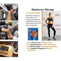 China Physiotherapy Equipments ESWT Shockwave Therapy Machine 22Hz Frequency Knee Pain Relief wholesale