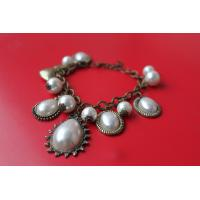 China 2013 new artificial metal casting jewelry multiple beaded charms teardrop pearl bracelet for ladies women wholesale