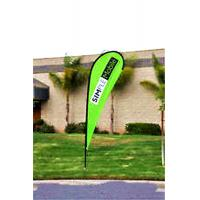China Custom Teardrop Banners Advertising , Tear Drop Banners High Strength Fiberglass Pole wholesale