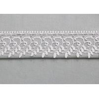China Retro Floral Venice Trim Edging Border Polyester Lace Ribbon For Bridal Gown wholesale