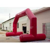 China High Strength Red Custom Inflatable Arch CE / UL Air Blower Easy Operation wholesale