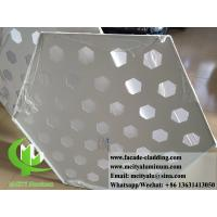 China Customized Hexagon Aluminium Panels For Facade Cladding Fence Roofing wholesale