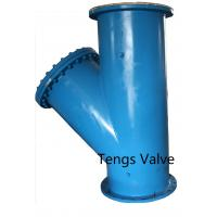 China Fabricted Steel Flanged Ends Y Strainer,  Carbon Steel A234 WPB, API and DIN Standard Welded Y Type Strainer on sale