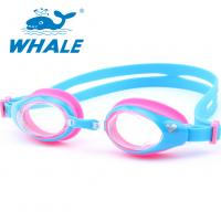 China UV Lens Kids Swimming Goggles Clear View High Definition With Silicone Strap wholesale