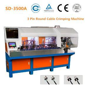 China 2 Pin Plug Semi Automatic Crimping Machine 24mm Stripping Size 1800 - 2000 PCS/H wholesale