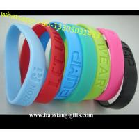 China Promotional Charm 1/2 inches Sport  colorful silicone Wristband/Bracelet wholesale