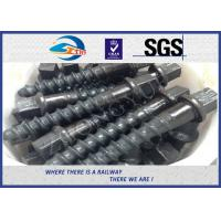 China Customized 35# 45# Railroad Screw Spike For Railway Fastening System Construction on sale