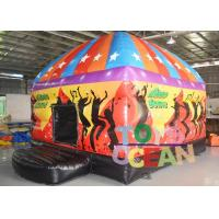 China Crazy Music Disco Playground Inflatable Bounce House With Stage Light / Speaker wholesale
