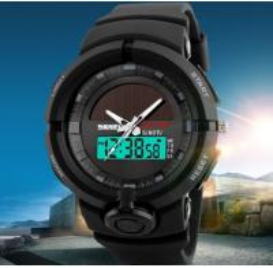 Quality 2017 New Skmei Solar Power Dual Time Men 50m Waterproof Multifunction Chrono Alarm Sport Wrist Watches 1275 for sale