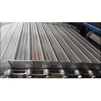 Buy cheap Industrial Stainless Steel Flat Wire Conveyor Belt Chain / Pressed Edge Treatment from wholesalers