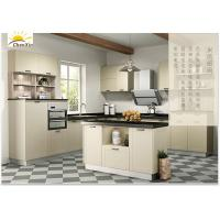 China Northern European Style Kitchen Cabinets , Light Color Kitchen Island Cabinets wholesale