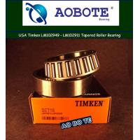 Quality Single Row M88048 Timken Taper Roller Bearings For Rear Wheel for sale