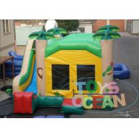 China Animal Jungle Combination Inflatable Bouncy Castle Small House With Slide 2 Years Warranty wholesale