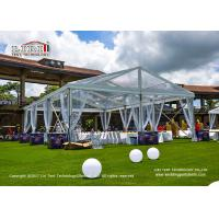 China 10m Width 15m Length Transparent Top Tent For 150 People Wedding Party wholesale