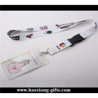 China hot sale printed logo 2*90cm custom polyester lanyard with safety buckle wholesale