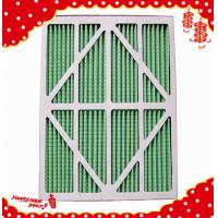 Buy cheap Primary efficiency synthetic mini-pleated panel filters for laminar air flow from wholesalers