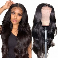 Quality Brazilian Body Wave Lace Front Wigs Hair Pre Plucked Bleached Knots Baby Hair Glueless 4 inch×4 inch(18,20,22,24 inch) for sale