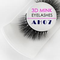 China Black Real Mink 3D Lashes , Soft Cotton Band Flutter Real Mink Fur Lashes wholesale