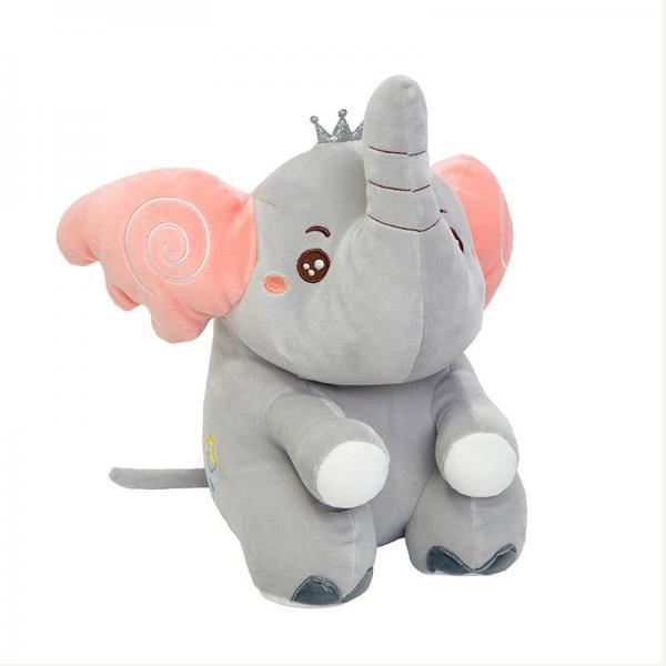 Quality Fast Rebound 25cm Cartoon Baby Elephant Plush Toy for sale