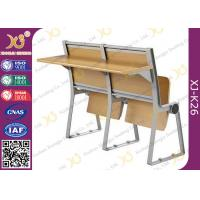 Quality Lecture Hall Seats Attached School Desks And Chair Wooden Folding Furniture for sale