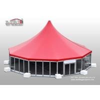 China Aluminum High Peak Multi sides Luxury Wedding Tents With Glass ABS Walls wholesale