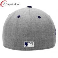 Quality Grey LA Doogers Sports Flat Brim Baseball Hats with Wool and Acrylic for sale