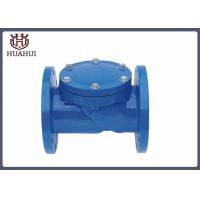 China Double Flanged Swing Type Check Valve , EPDM Disc Double Check Valve For Water wholesale