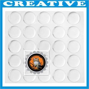 China 1 Inch Clear Epoxy Self-adhesive Stickers wholesale