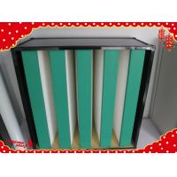 China 595x595x292mm clean room ABS plastic frame combined V bank hepa air filter wholesale