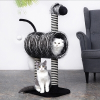 China Sustainable Cute Zebra Cat Scratcher Tree on sale