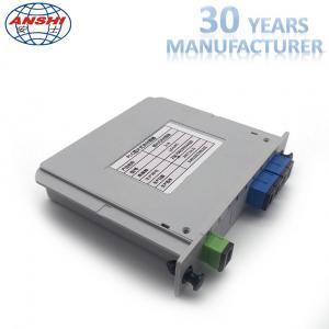 Buy cheap Fiber Optic 1x4 SC / UPC Insert Type PLC Splitter Casette Type Mini Box from wholesalers