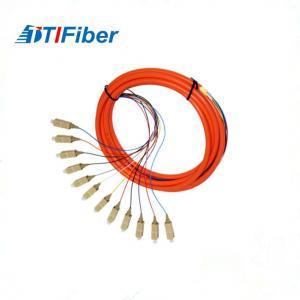 China Simplex Duplex 12 cores Fiber Optical  Pigtail OM2 50um For FTTH Network wholesale