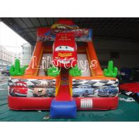 China Red Car Large Inflatable Jumping Slide With Repair Kits , Kids Inflatable Slide on sale