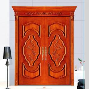 China House used swing main entrance wooden door/ MDF door, double wood door on sale