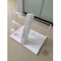 China Table Top Custom Size Wooden Display Racks With 3 Pieces Acrylic Holder wholesale