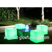 Quality Colorful led cube chair / table With Built - in Certified Rechargeable Lithium for sale