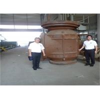 China 600LB 48 Inch Top Entry Valve With Gas - Liquid Linkage Actuator on sale